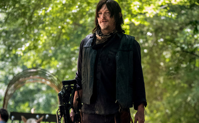 El actor Norman Reedus, Daryl Dixon en 'The Walking Dead', en una...