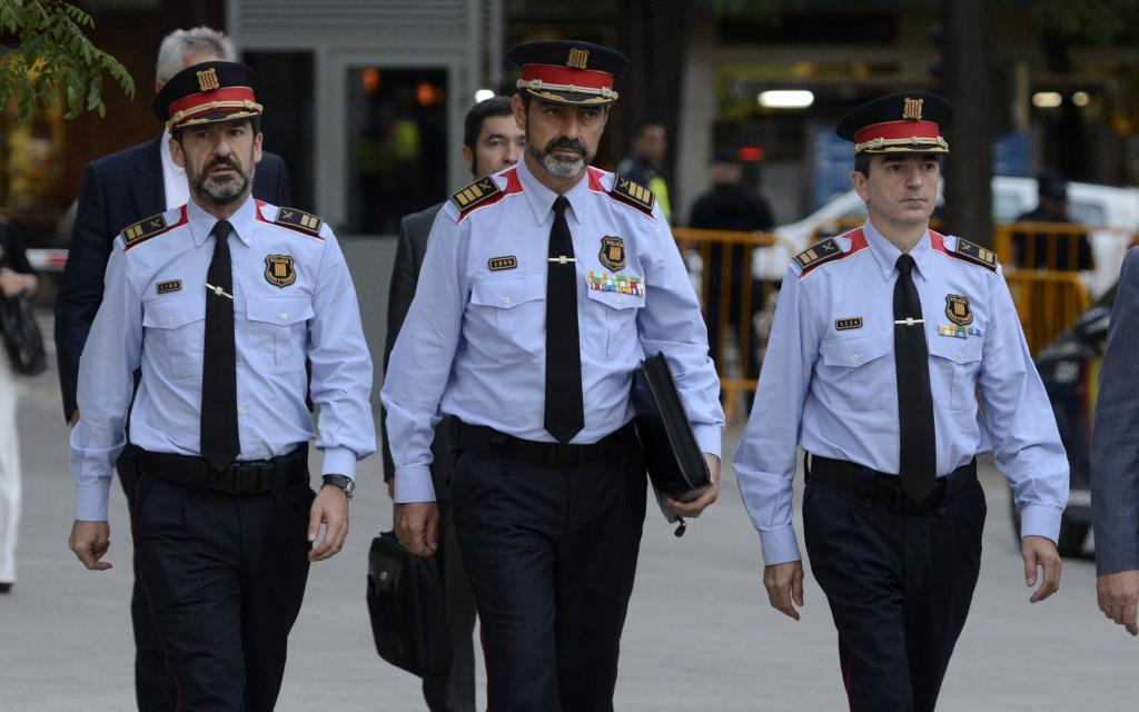 Trapero junto a López y Molinero cuando acudió a la Audiencia Nacional a declarar