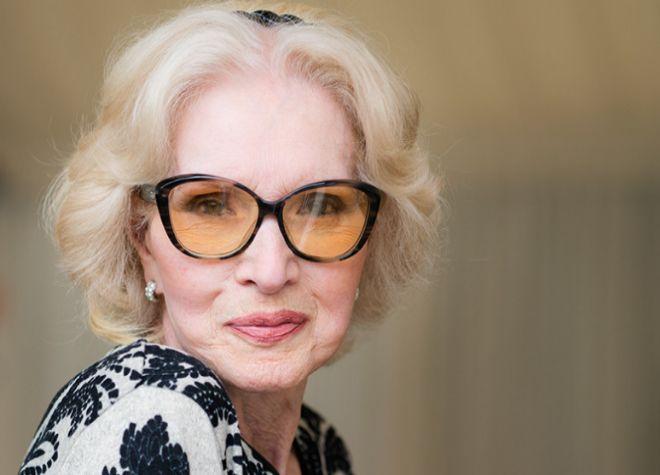 La actriz Helga Liné a sus 86 años.