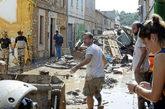 Estado de la localidad de Sant Llorenç tras las riadas que han...