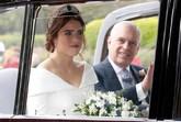 Eugenia de York ha llegado al Castillo de Windsor acompañada de su...