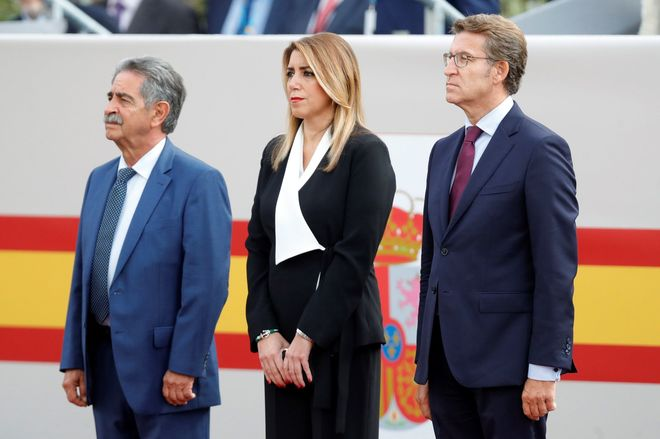Susana Díaz celebra el acuerdo de presupuestos con Podemos y no descarta el pacto en Andalucía