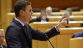 El presidente del Gobierno, Pedro Sánchez, en una sesión de control...