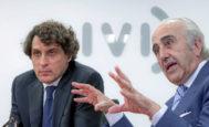 José Remohí y Antonio Pellicer, presidentes del IVI, durante una rueda de prensa. JOSÉ CUÉLLAR