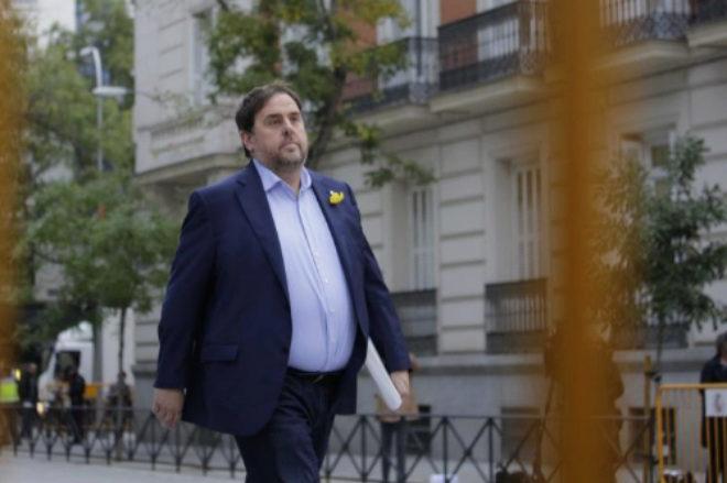 Oriol Junqueras se dirige a la Audiencia Nacional el 2 de noviembre de...