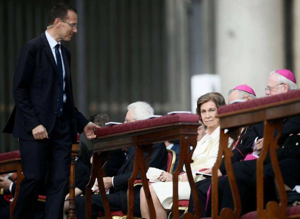 La reina Sofía, durante la ceremonia de canonización.