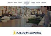 La página web de la Universidad de Gerona, con el lazo amarillo y el...