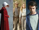 Imágenes de las series El cuento de la criada, Westworld y Por 13...
