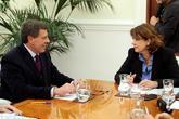 El padre de Diana Quer, Juan Carlos Quer, reunido con la ministra de...