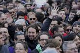 Pablo Iglesias, durante una manifestación convocada por Podemos.