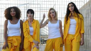 Parte del elenco principal de 'Vis a vis', en su tercera temporada.