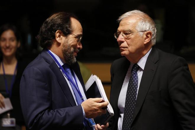 Borrell, al inicio del Consejo de Ministros de la UE que se celebra en Luxemburgo.