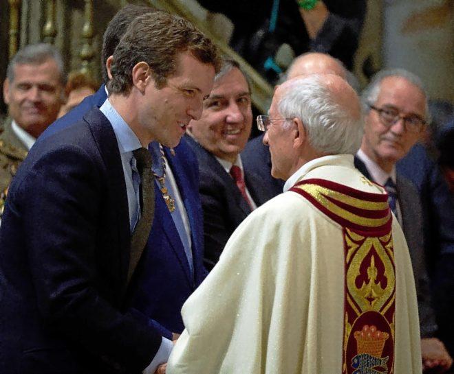 El presidente del PP, Pablo Casado, en la clausura del Año Jubilar...