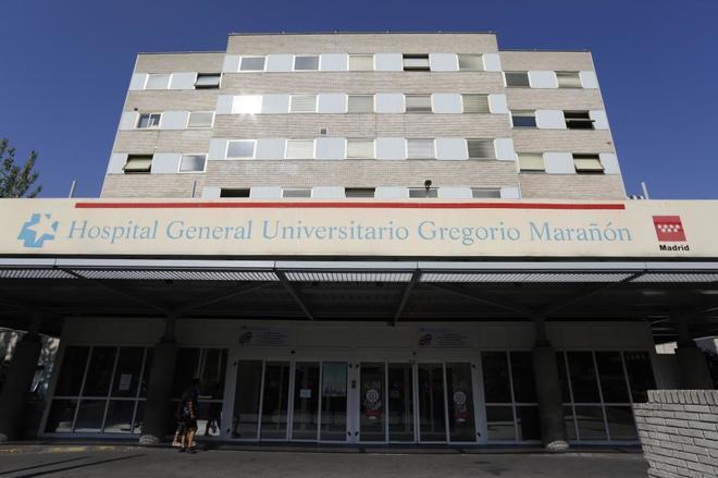 Fachada principal del Hospital Gregorio Marañón de Madrid.