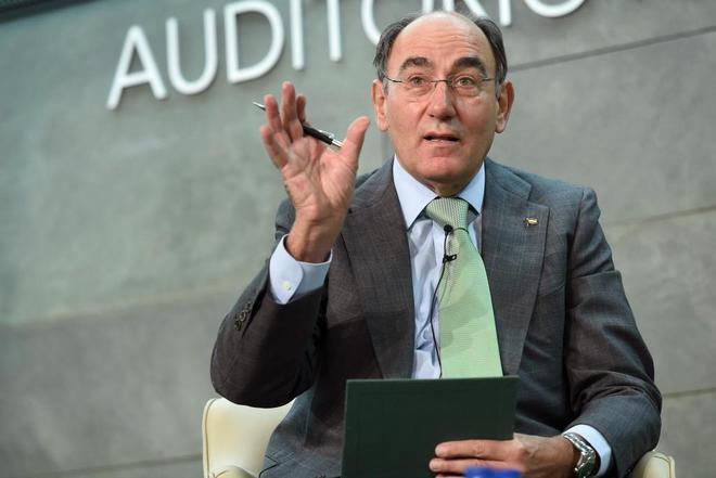 El presidente de Iberdrola, Ignacio Sánchez Galán, durante su...