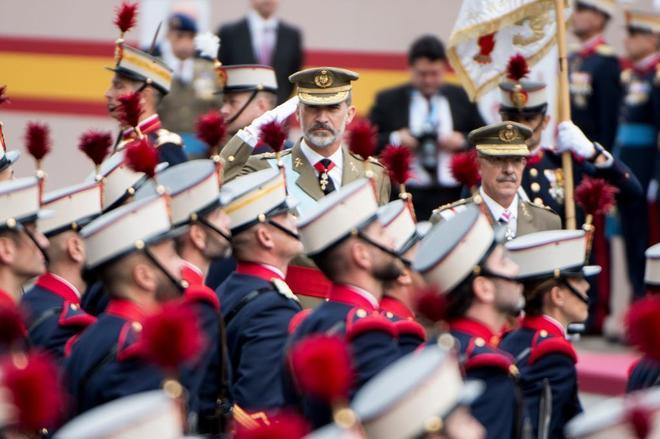 Felipe VI, en el desfile del 12 de Octubre.