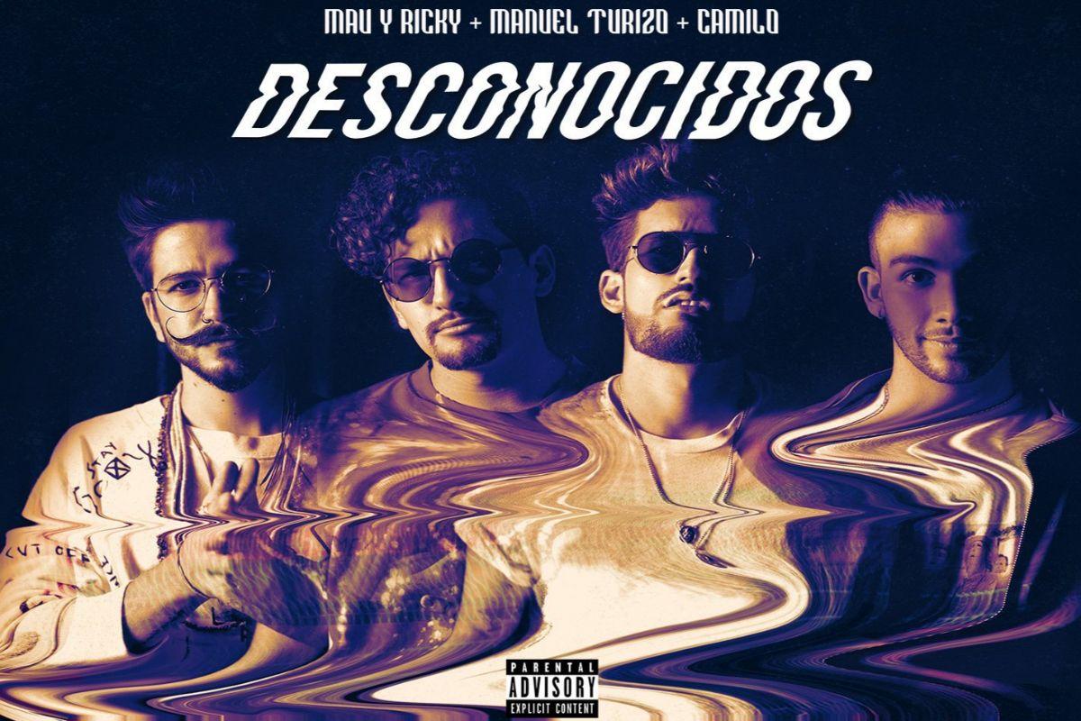 Mau y Ricky, Manuel Turizo y Camilo en la portada de su nuevo single,...