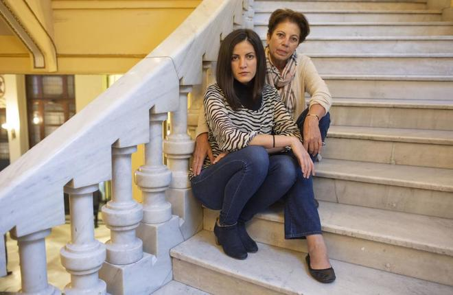 Rosa María Payá y Ofelia Acevedo, hija y viuda del disidente cubano Oswaldo Payá, en Madrid.