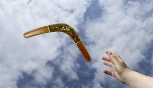 El karma tiene un efecto boomerang, para lo bueno y para lo malo.