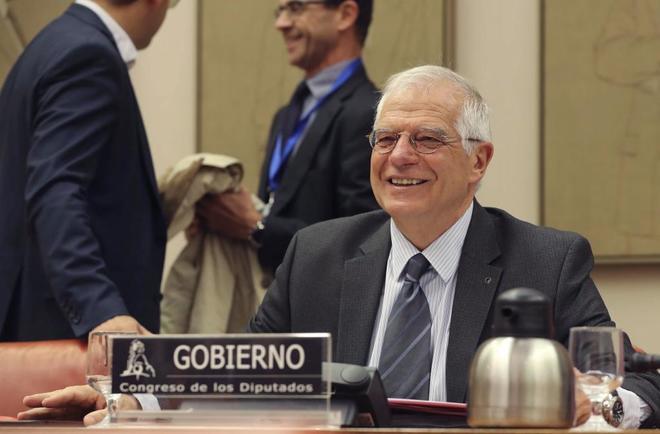 El ministro de Asuntos Exteriores, Josep Borrell, en el Congreso de...