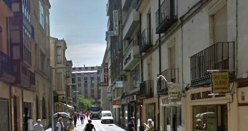 Calle Benavente, Zamora, lugar donde se produjeron parte de los hechos.