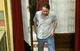 El secretario general de Podemos, Pablo Iglesias, en el Congreso de...