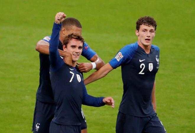 Griezmann celebra su segundo gol ante Alemania.