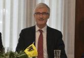 Geert Bourgeois, ministro-presidente de Flandes, en un acto celebrado...
