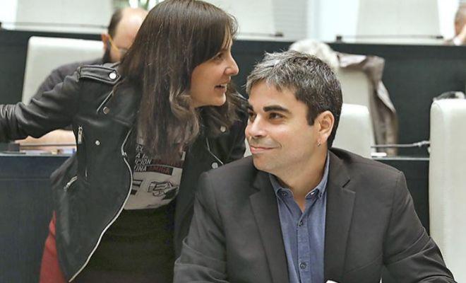 Rita Maestre y Jorge García Castaño, en un Pleno municipal.