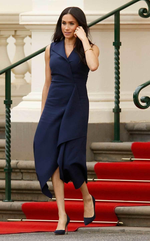 Meghan Markle con vestido de Dion Lee - Viaje oficial a Australia, Nueva Zelanda, Fiji y Tonga