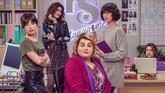 Algunas de las protagonistas de Paquita Salas (en el centro) en una...