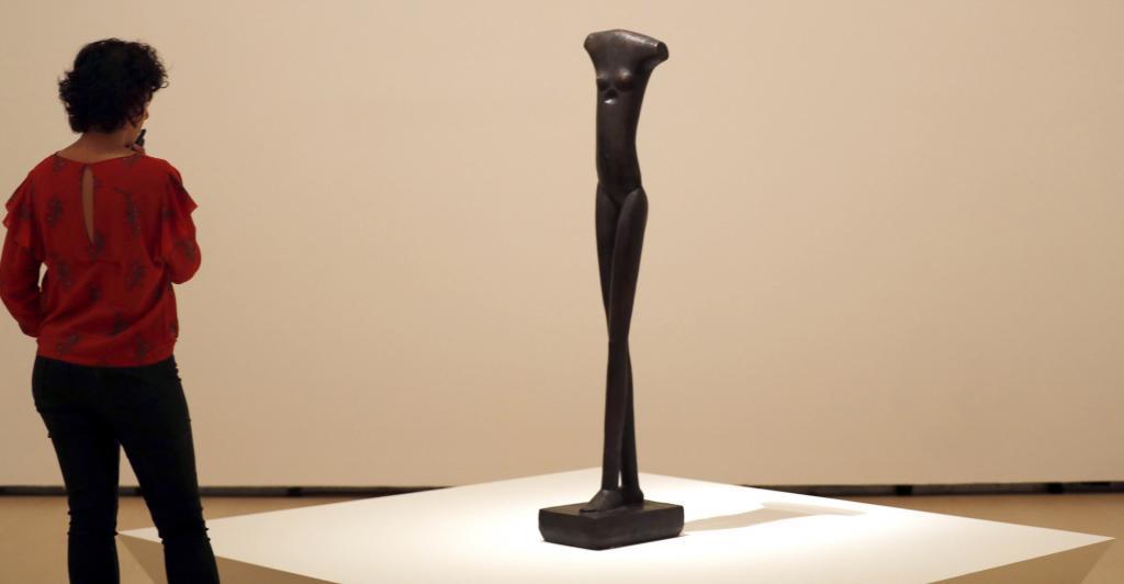 Imagen de la exposición de Giacometti, en el Guggenheim Bilbao