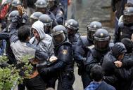 Acción policial en el centro Ramon Llul el 1-O