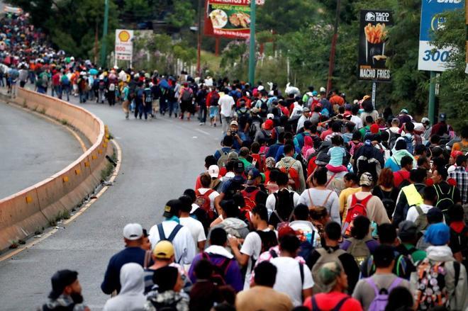 México militariza su frontera con Guatemala ante la llegada de la caravana de migrantes hondureños