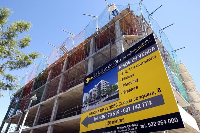 Pisos de nueva construcción en la zona del Fórum de Barcelona.