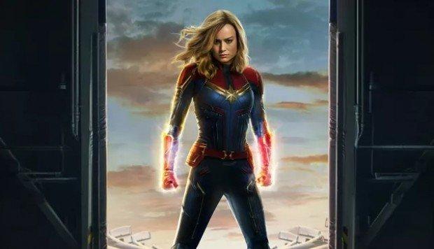 Parte del cartel de Capitana Marvel, la película sobre el origen de...