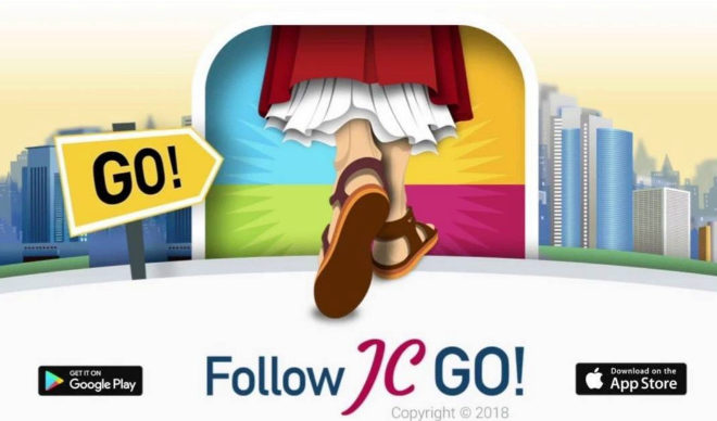 Imagen oficial de la app de Follow JC GO!
