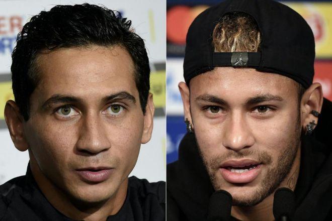 Ganso (izquierda) y Neymar (derecha)