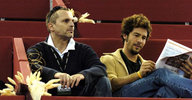 Miguel Bosé y Nacho Palau en el Masters Series de Madrid 2004.