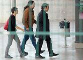 El secretario general de Podemos Pablo Iglesias, a su llegada a la...