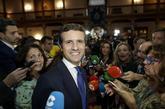El presidente del Partido Popular, Pablo Casado, se desplazó a Oviedo...