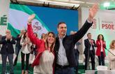 El presidente del Gobierno y la presidenta de la Junta de Andalucía,...