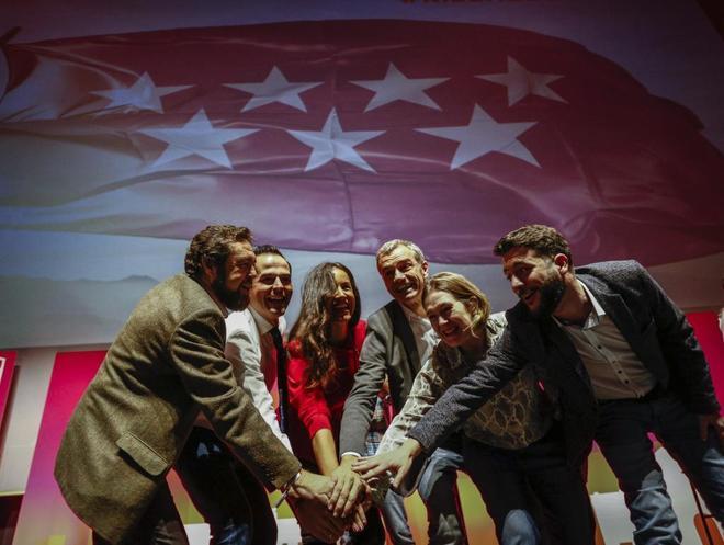 Miembros de Cs en el acto en el que presentaron 'Por un Madrid de futuro'