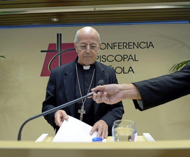 El presidente de la Conferencia Episcopal, Ricardo Blázquez, en una...