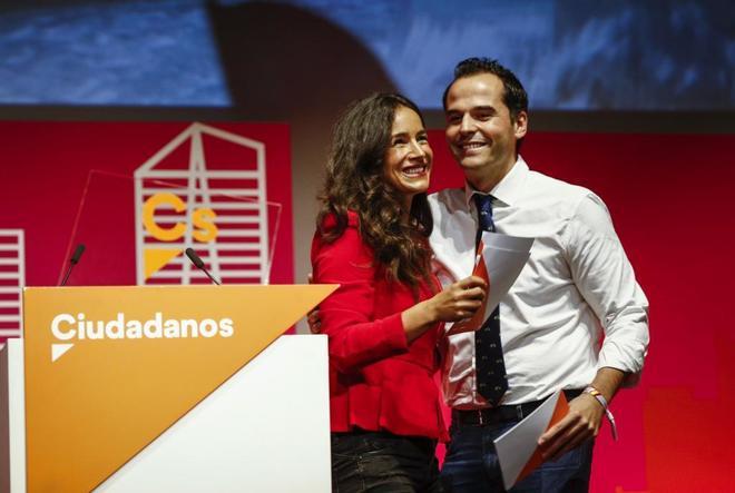 Begoña Villacís e Ignacio Aguado, en el acto que ha celebrado Ciudadanos en Madrid.