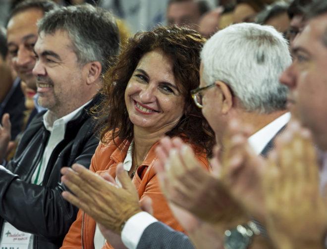 La ministra de Hacienda, María Jesús Montero,  durante el Comité Director del PSOE andaluz.