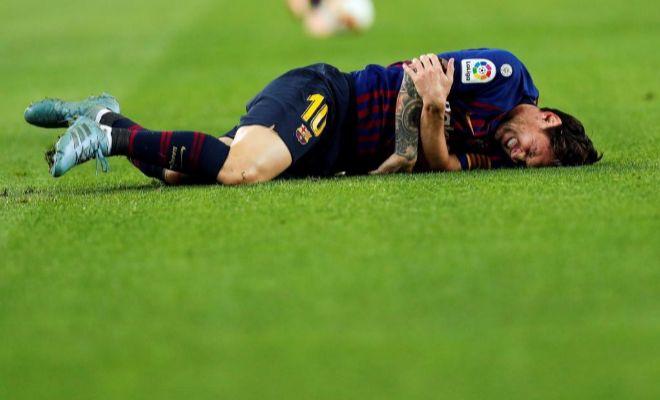 Messi, duda para el Clásico por un problema en el codo derecho