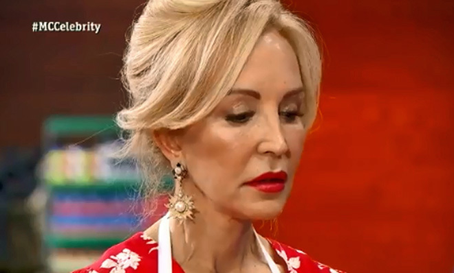 Carmen Lomana recibe la bronca de Jordi Curz en MasterChef Celebrity.