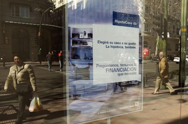Imagen de un anuncio de una hipoteca de un banco