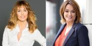 Las presentadoras Emma García y Toñi Moreno.